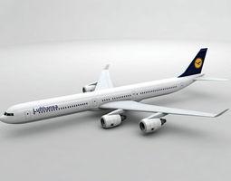 3D asset Airbus A340-600 - Lufthansa