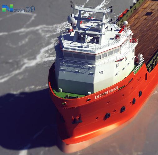 container ship 3d model max obj mtl fbx 1