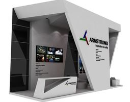 3D asset Armstrong Exhibition Booth