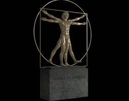 realtime vitruvian man by  leonardo da vinci 3d asset