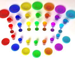 Colored Glassware 3D