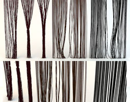 bright Curtains rope Kisea 3D model