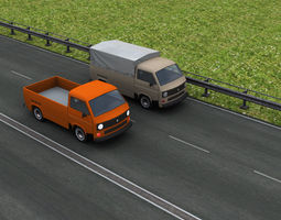 Old Pickup with interior 3D asset