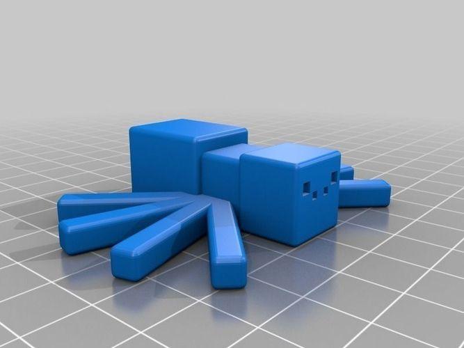 Minecraft Spider Free 3d Model 3d Printable Stl