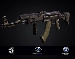 PBR Assault Rifle AK 47 Tactical 2018 3D model