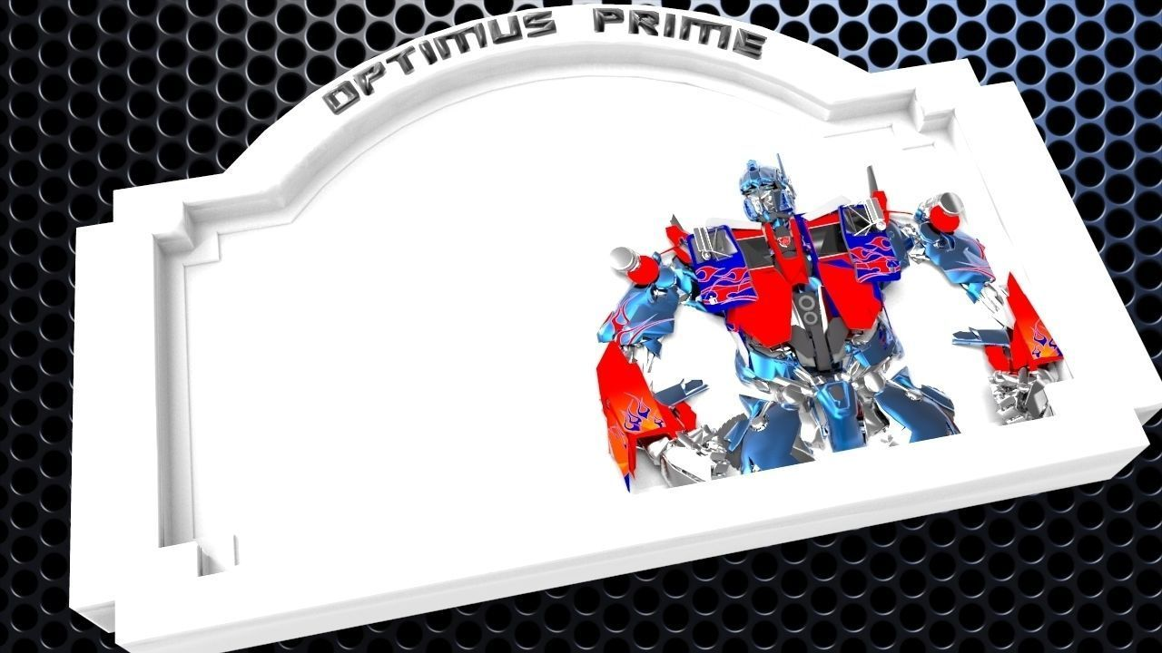Optimus Prime Bedroom Door Sign Template - 2 versions
