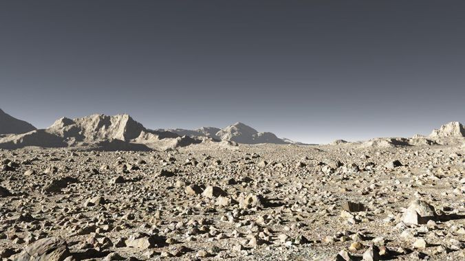 mars in terragen 3d model tgo 1