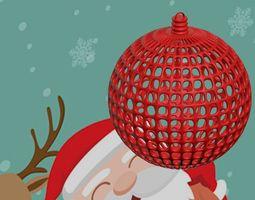 3D printable model CHRISTMAS TREE BALL------CUSTOMIZABLE