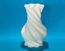 Torqued Round Vase  3D Model