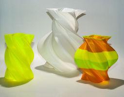 Torqued Vases 3D Model