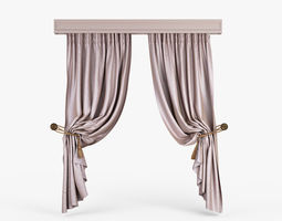 3D model Folded Curtains