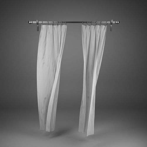 flying curtains 3d model max obj mtl fbx 1