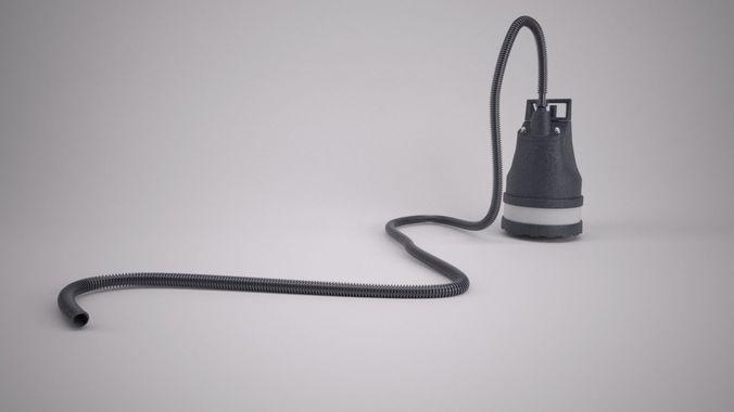 puddle pump 3d model max 1