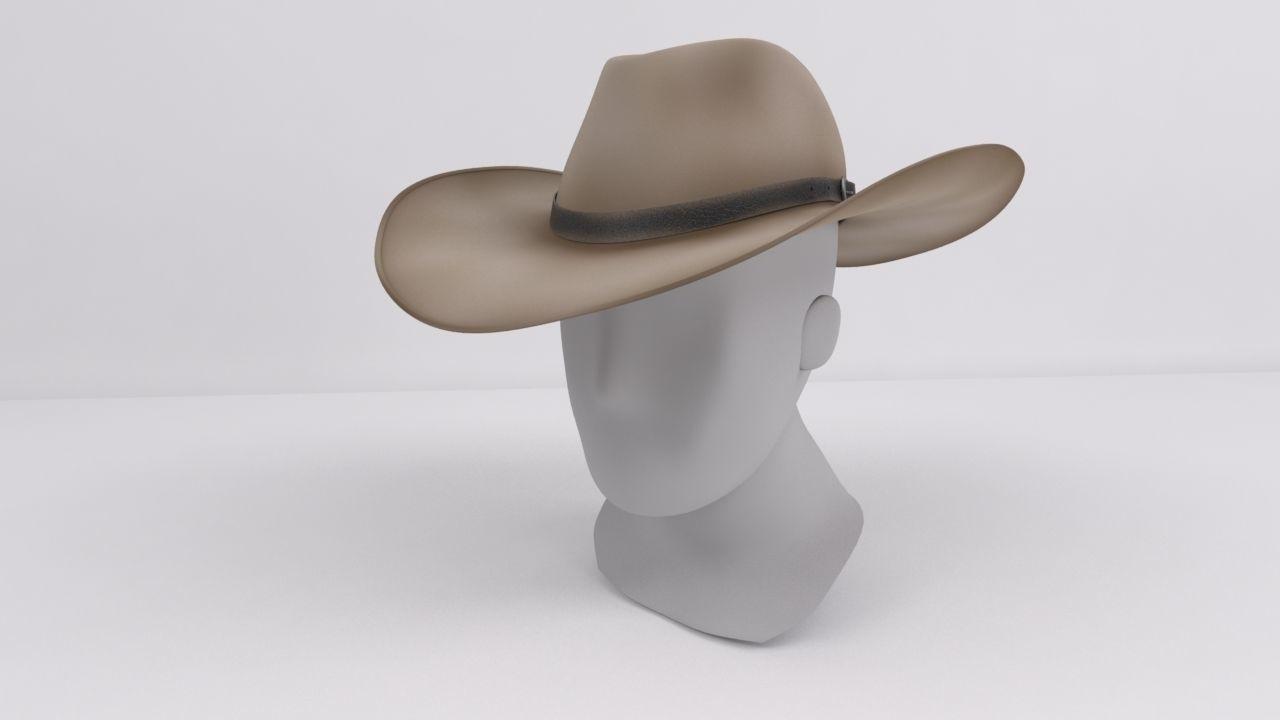 8204686b00640 Stetson Cowboy Hat 3D model   CGTrader