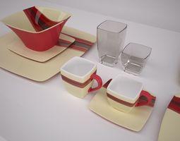 3d contemporary dinnerware