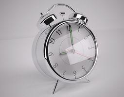 chrome alarm clock 3d model