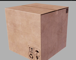 Cardboard crate PBR Game-Ready 3D asset