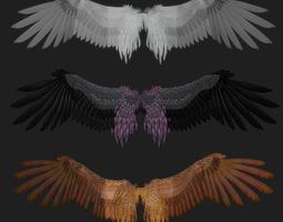 Fantasy Wing Rigged 3D model