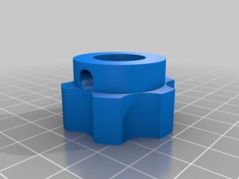 Z axis knob for the makergear m2 3d printer free 3d model 3d printer models free