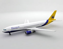 Airbus A300-600 Airliner - Monarch 3D asset
