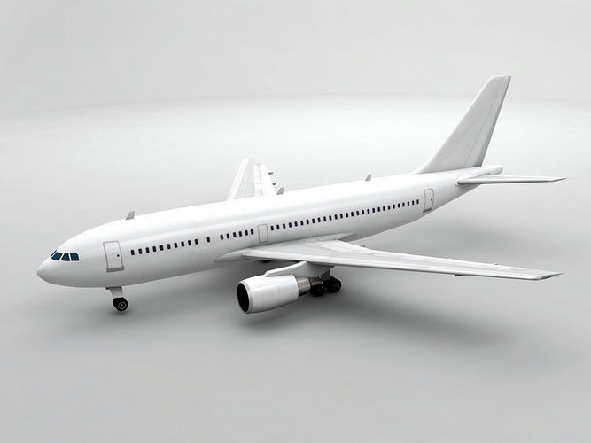 airbus a310-300 airliner - generic white 3d model max obj 3ds dxf stl wrl wrz 1