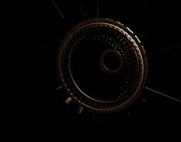 sci-fi wheel extended 3D model