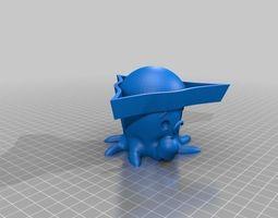 Cute Piratopus Says Yarrrr 3D Model