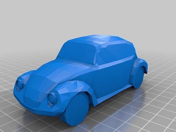 vw beetle 3d model stl skp 1