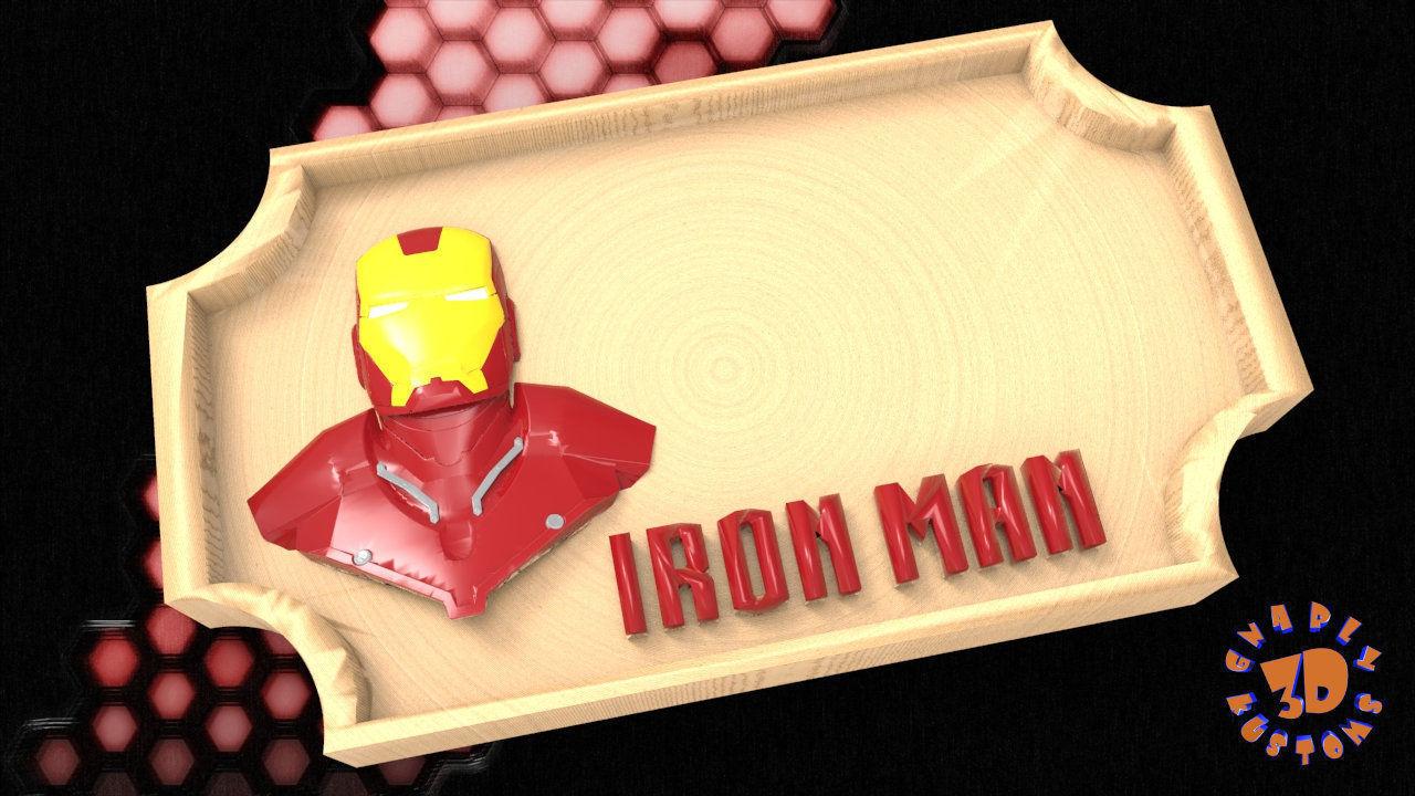 Iron Man Bedroom Door Sign Template