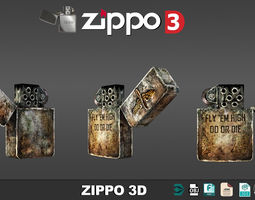 Zippo 3D models low poly
