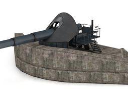 Ordnance Krupp gun 3D model