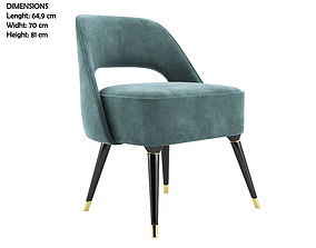 Collins Dinning Chair 3D model