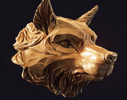 Wolf head pendant 3d print model pendants
