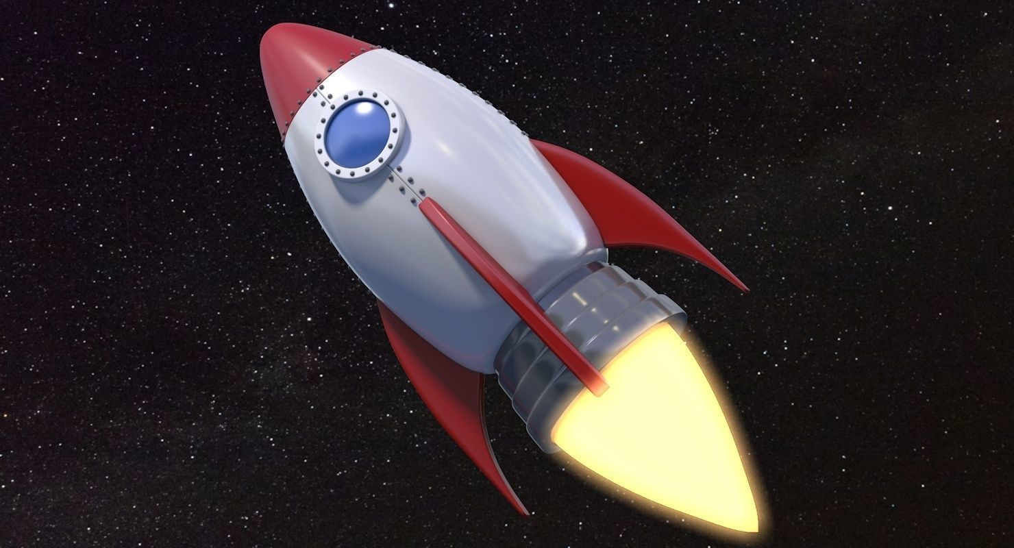 3D model Cartoon Rocket Ship V1 | CGTrader