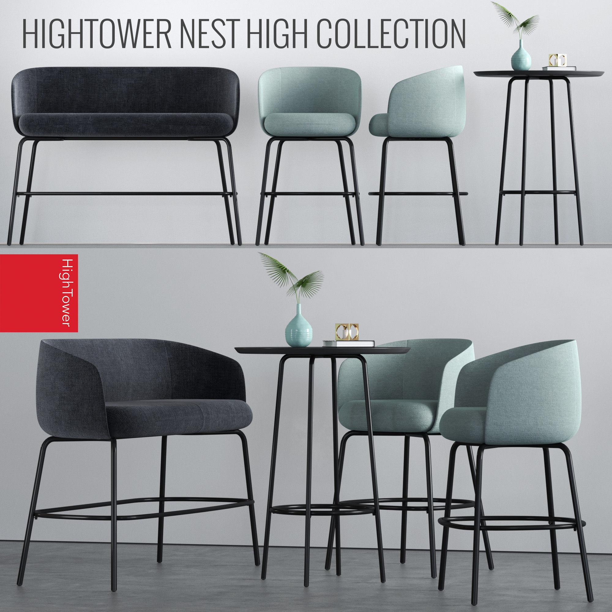 3d Model Hightower High Nest Set Cgtrader