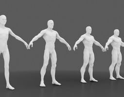 3D skinny to muscle male