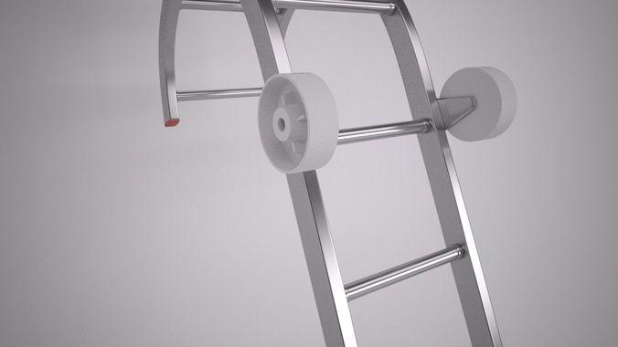 roof ladder 3d model max 1