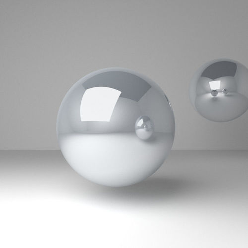chrome material node setup 3d model blend 1