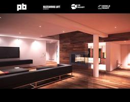 3D asset animated Modern loft full pack