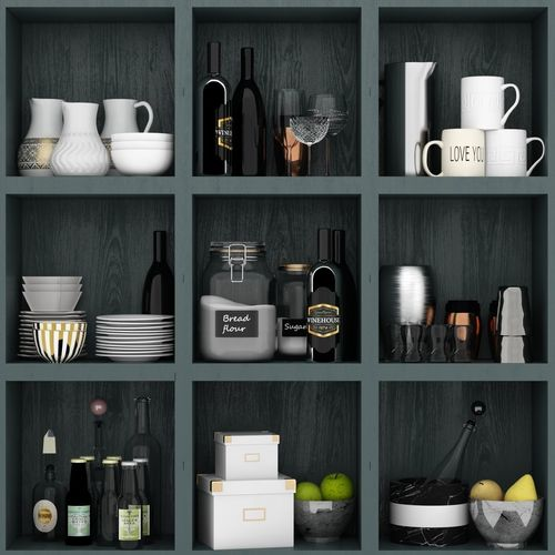 3d Kitchen Set From Ikea Cgtrader