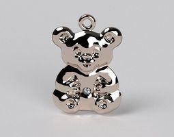 bear pendat 3d print model