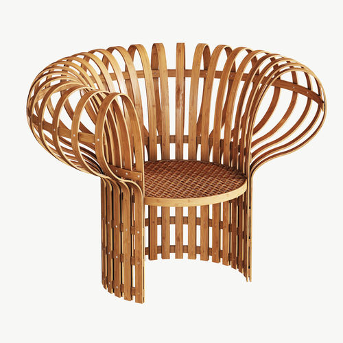 Armchair Made Of Bent And Woven Bamboo 3d Model Max Obj Fbx Mtl 1 ...