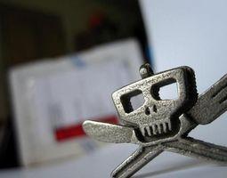 Skull and Cross Utensils 3D print model