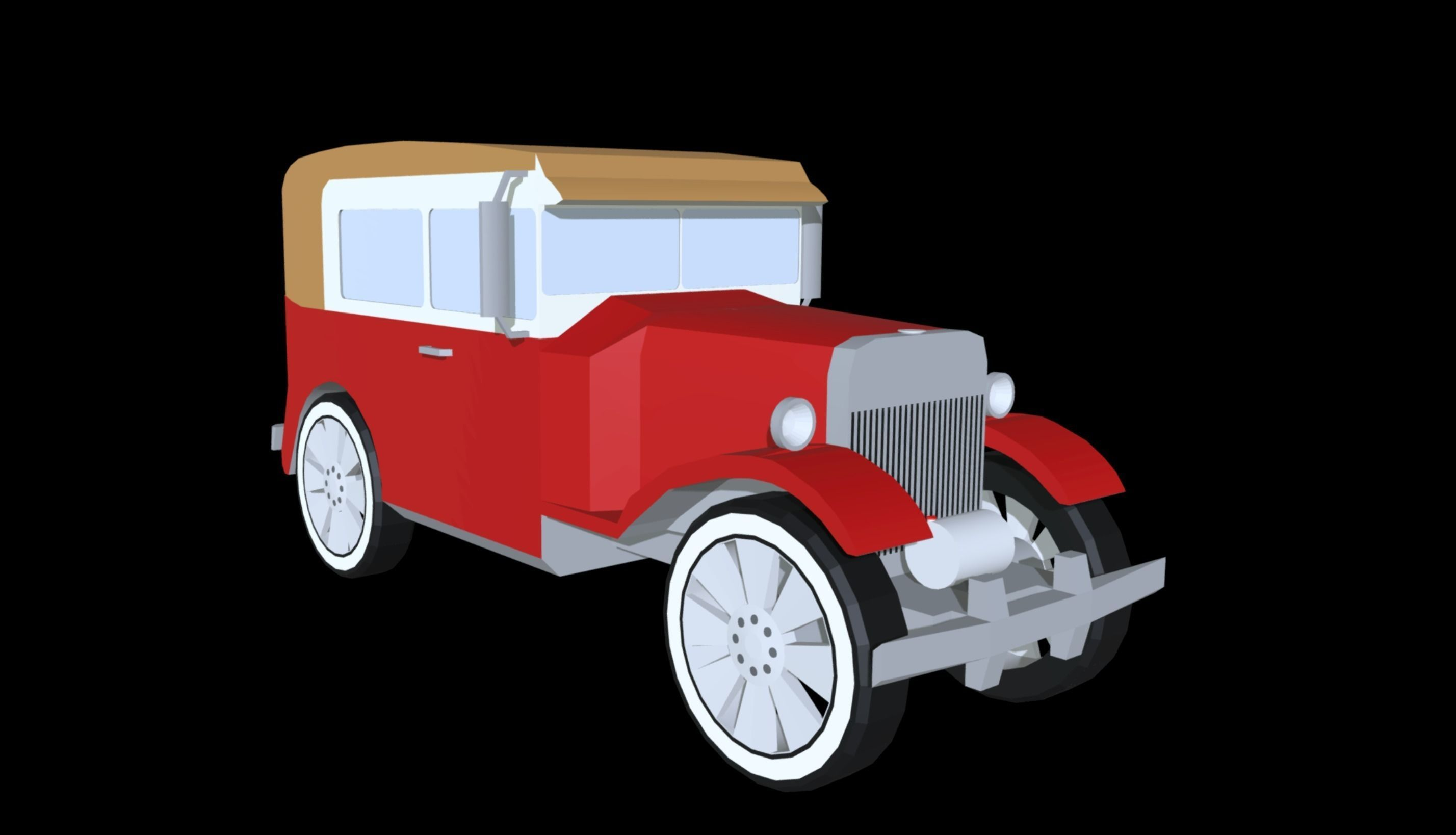 3D asset Old Fashioned Car | CGTrader
