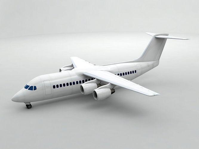 avro rj-100 - generic white 3d model max obj 3ds dxf stl wrl wrz 1