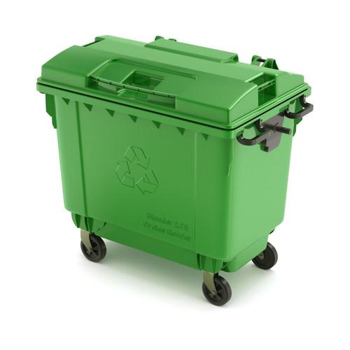 trash container 3d model obj mtl fbx blend 1