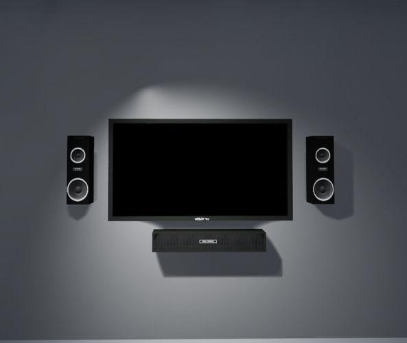 TV and Speaker Set