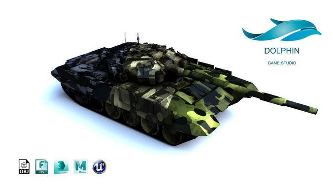 t-90 tank 3d model max obj 3ds fbx ma mb mtl 1