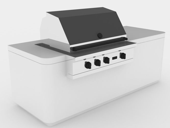 barbecue 3d model max obj mtl 3ds c4d lwo lw lws stl 1