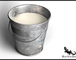 3D model Metal Milk Bucket